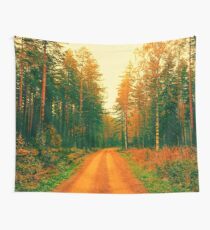 Dirt Road Forest Wall Tapestry