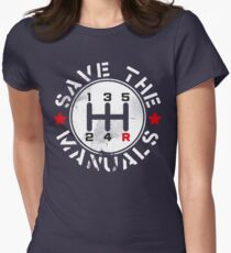 Save The Manuals Women's Fitted T-Shirt