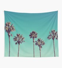 California Palm Trees Wall Tapestry