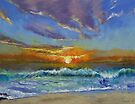 Malibu Beach Sunset by Michael Creese