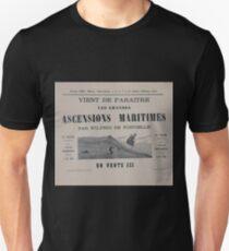 0251 ballooning Vient de paraitre les grandes ascensions maritimes par Wilfrid de Fonvielle en vente ici T-Shirt