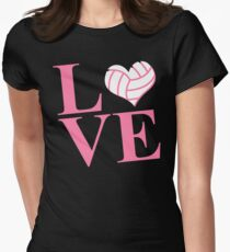 LOVE VOLLEYBALL Women's Fitted T-Shirt