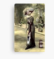 Parisian Busker's. Canvas Print