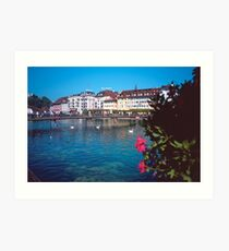 Luzern in Summer Art Print