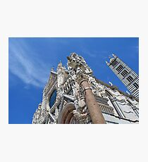 Detail of cathedral from Siena. Photographic Print