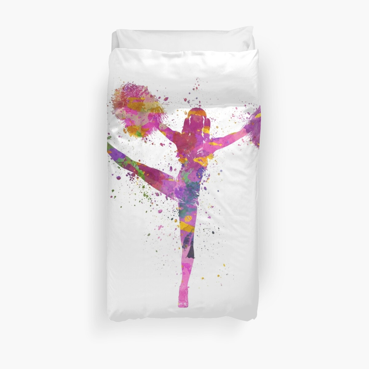 young woman cheerleader 04 Duvet Cover