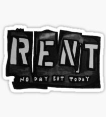 RENT Sticker