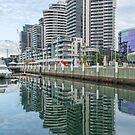 Docklands Reflections, Melbourne by Pauline Tims