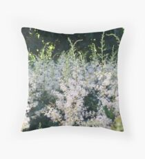 Meadowsweet in the Woods Throw Pillow