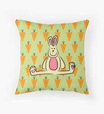 Bunny luv  Throw Pillow