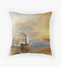 The Fighting Temeraire by JMW Turner Throw Pillow