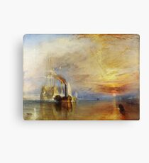 The Fighting Temeraire by JMW Turner Canvas Print