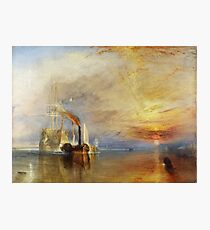 The Fighting Temeraire by JMW Turner Photographic Print