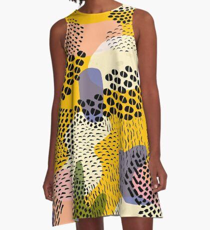 Piña Colada A-Line Dress