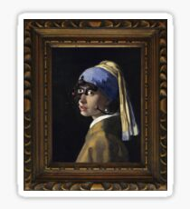 Borg with a Pearl Earring Sticker