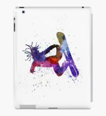 young snowboarder iPad Case/Skin