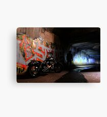 Tunnel Rider... Canvas Print