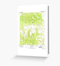 USGS TOPO Map Arizona AZ Willow Mtn SE 314135 1967 24000 Greeting Card