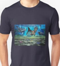 Swimming With The Dolphin's Unisex T-Shirt