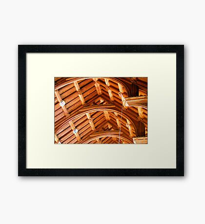 Ceiling in Chester Cathedral Framed Print