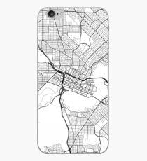 Perth Map, Australia - Black and White iPhone Case