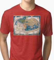 4th edition of Ptolemy's Cosmographia  by Leinhart Holle, dated 1482 Tri-blend T-Shirt