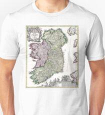 Ireland - Geographicus Ireland - Homann - 1716 Unisex T-Shirt