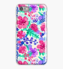 Fresh Watercolor Floral Pattern iPhone Case/Skin