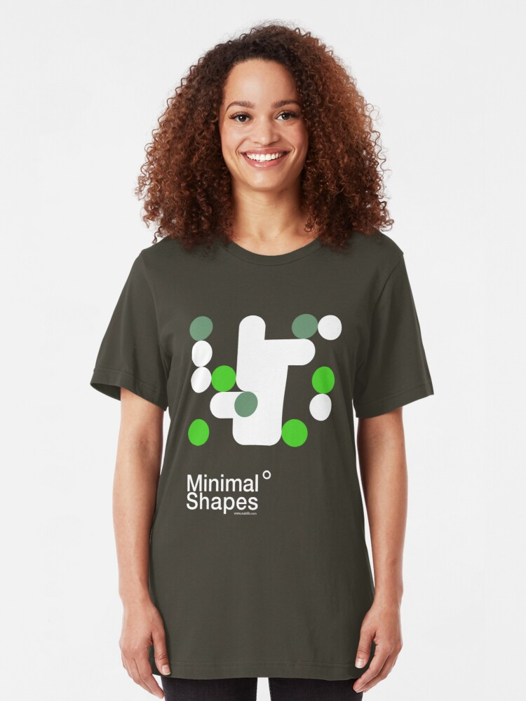 Alternate view of minimal shapes 002 Slim Fit T-Shirt