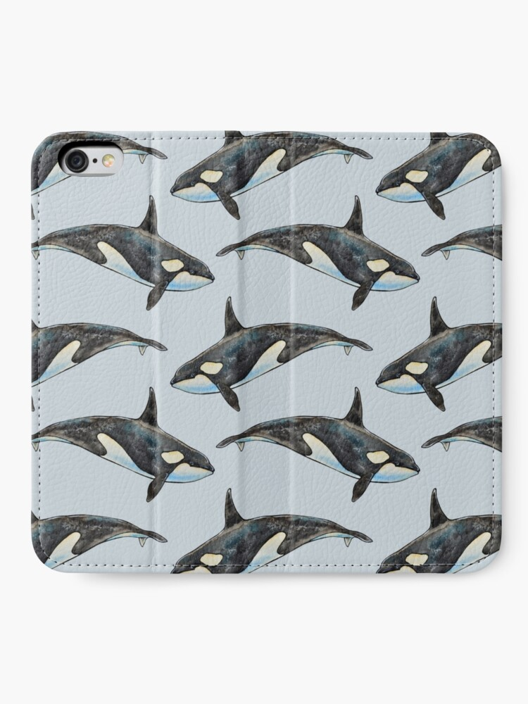 Alternate view of Orca on blue iPhone Wallet
