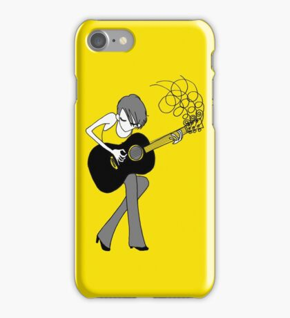 The Girl and the Guitar  iPhone Case/Skin