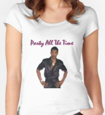 Party All The Time #1 Women's Fitted Scoop T-Shirt