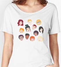 Friends Pattern Women's Relaxed Fit T-Shirt
