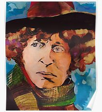 Pouty Fourth Doctor  Poster