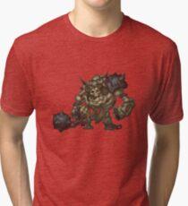 Skeleton Grunt Tri-blend T-Shirt