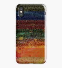Radiohead - In Rainbows Album Lyrics Design #1 iPhone Case/Skin