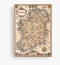 1927 vintage Ireland map Canvas Print