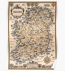 1927 vintage Ireland map Poster