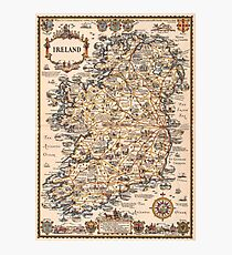 1927 vintage Ireland map Photographic Print