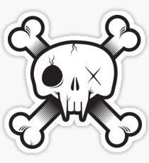 Modern Pirate Skull Sticker