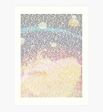 Radiohead - In Rainbows Lyrics T-Shirt Design #2 Art Print