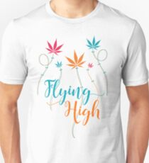 Flying High on Cannabis Unisex T-Shirt