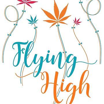 Flying High on Cannabis by hollycraychee