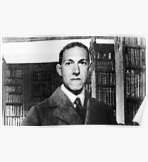 H.P. Lovecraft photographic portrait Poster
