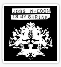 """Joss Whedon Is My Shrink"" - Light Sticker"