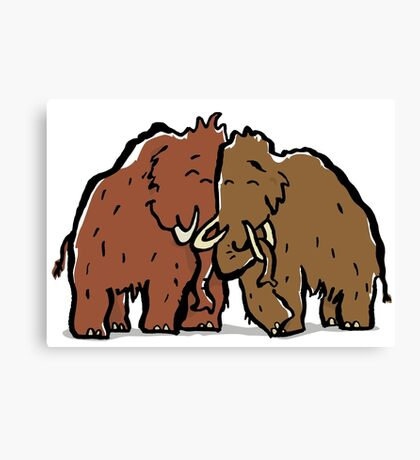 a couple of mammoth Canvas Print