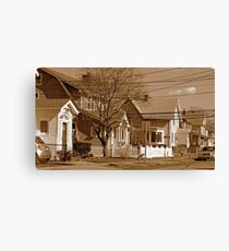 Typical homes in Valley Stream-Sepia Canvas Print