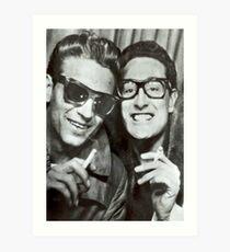 Buddy Holly and Waylon Jennings Art Print
