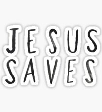 Jesus Saves x Navy Sticker