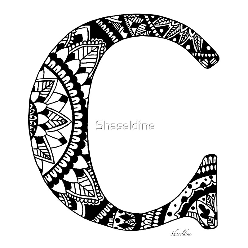 Quot Mandala Letter C Quot By Shaseldine Redbubble